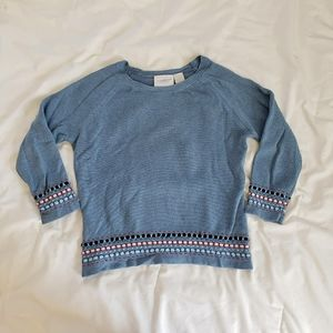 Vintage Sweater with Embroidery